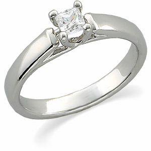 1/4 ct Square Princess Solitaire