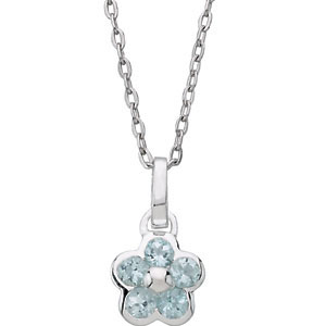 "Youth Flower 16"" Necklace"