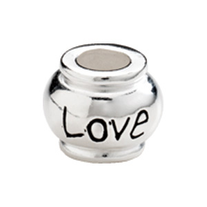 "Kera™ Sterling Silver ""Love"" Expression Bead"