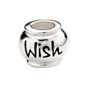 "Kera™ Sterling Silver ""Wish"" Expression Bead"