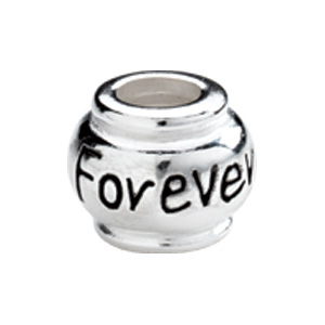 "Kera™ Sterling Silver ""Forever"" Expression Bead"