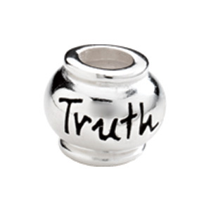 "Kera™ Sterling Silver ""Truth"" Expression Bead"