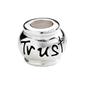 "Kera™ Sterling Silver ""Trust"" Expression Bead"