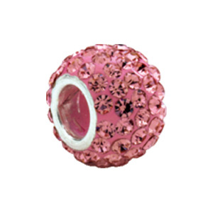 Kera™ Roundel Bead with Pave' Rose Crystals