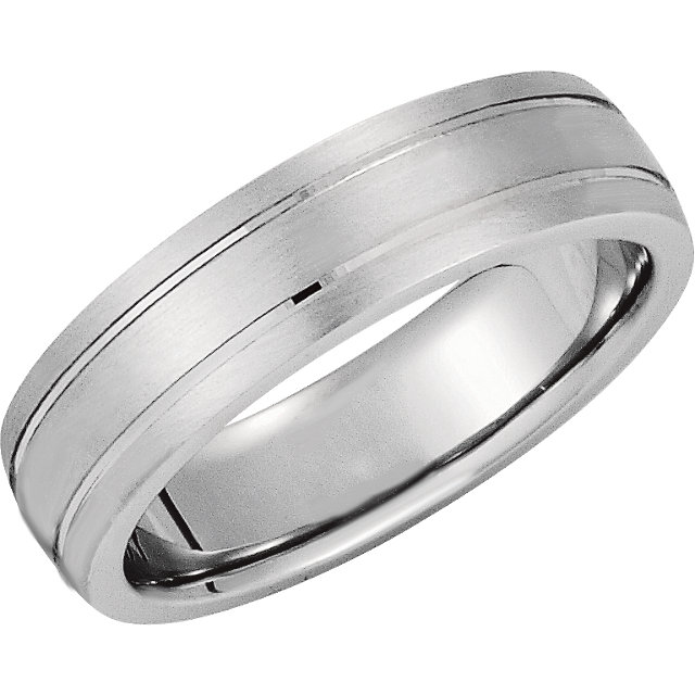 6mm Domed Precious Bond™ Band with Matte Finish