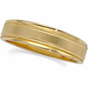 Mens 6mm Tapered Design Band