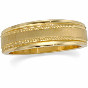Ladies 6mm Tapered Design Band