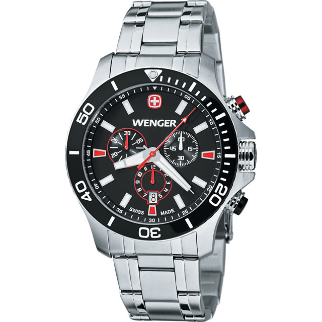 Wenger® Sea Force Watch With Stainless Steel Bracelet