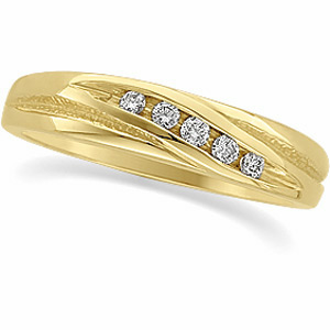 Ladies 1/10 ct tw Diamond Duo Band