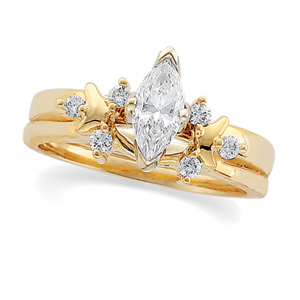 1/8 ct tw Diamond Wrap (Marquise Solitaire sold separately)