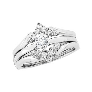 1/4 ct tw Diamond Ring Guard (Round Solitaire sold separately)
