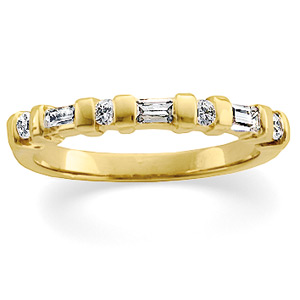 3/8 ct tw Diamond Bar Channel Band