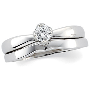 Round Tulipset Diamond Solitaire (Made to Order)