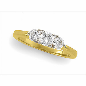 bridal gold ring diamond wedding cut anniversary bands white stone band baguette