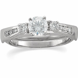 1/4 ct tw Diamond Enhancer (1/2 ct Solitaire sold separately)