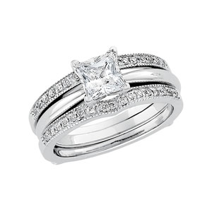 1/4 ct tw Diamond Ring Guard(Solitaire sold separately)