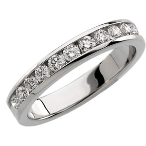 Anniversary Band (14K W) 1/2 CT TW - Polished