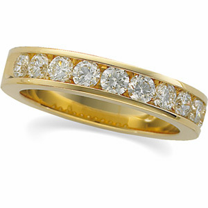 Anniversary Band (14K Y, 14K W, Platinum) 1 1/8 CT TW - Polished