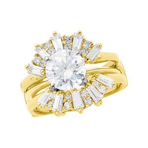 1 ct tw Diamond Ring Guard (2 ct Solitaire sold separately)