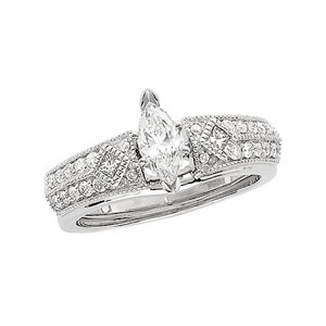 1/3 ct tw Diamond Enhancer( Marquise Solitaire sold separately)