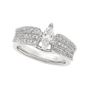 1/3 ct tw Diamond Enhancer (Marquise Solitaire sold separately)