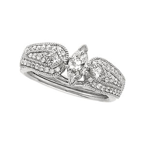 1/2 ct tw Diamond Enhancer (Marquise Solitaire sold separately)