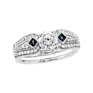 Diamond & Sapphire Enhancer (3/8 ct Solitaire sold separately)