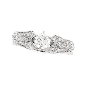 1/5 ct tw Diamond Enhancer ( Round Solitaire sold separately)