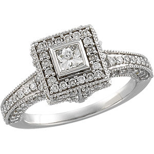 1 1/5 CTTW BRIDAL ENGAGEMENT RING