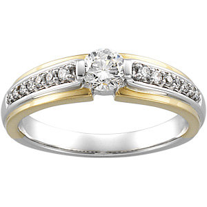 1/2 CT TW TT BRIDAL ENGAGEMENT RING