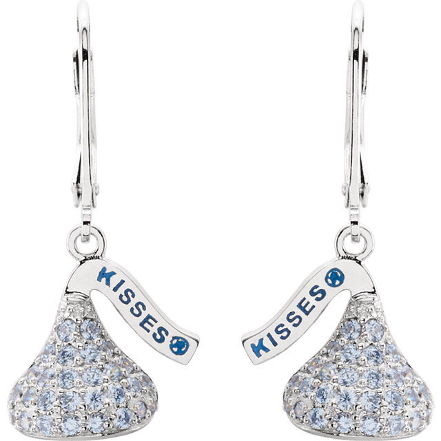 SS March HERSHEY'S KISSES® Flat Back CZ Lever Back Earrings