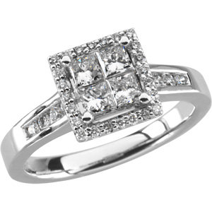 7/8 CTTW BRIDAL ENGAGEMENT RING
