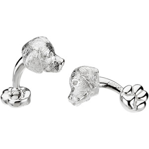 Heart U Back Golden Retriever Cuff Links