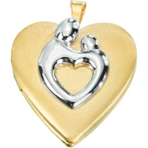 Heart Shaped Mother & Child? Locket