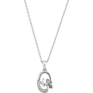 ".07 ct tw Diamond Butterfly 18"" Necklace"