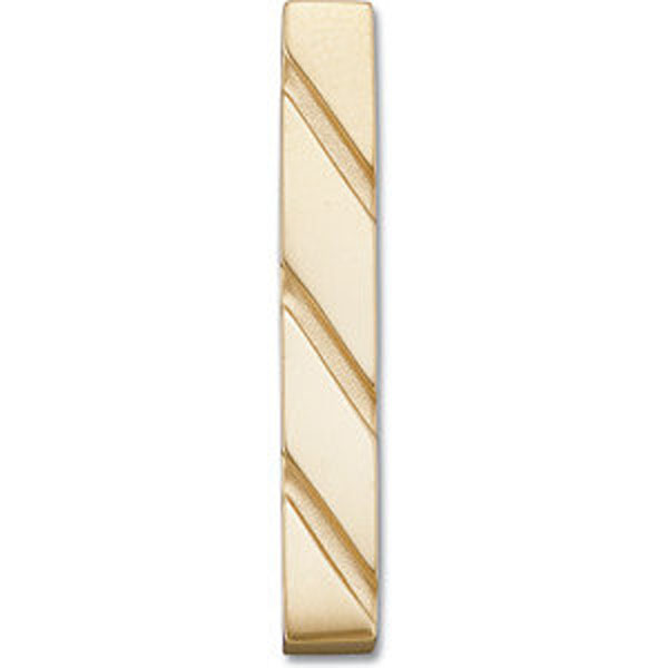 14 K Yellow Gold Vertical Bar Pendant