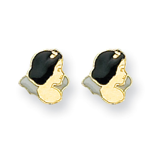 14K Disney Snow White Earrings