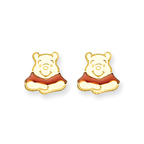 14K Disney Winnie The Pooh Earrings