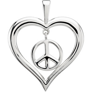 Heart Peace Sign Pendant