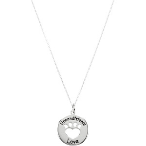 Heart U Back Unconditional Love Paw Pendant / Chain