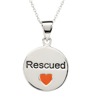 Heart U Back Rescue Pendant with chain
