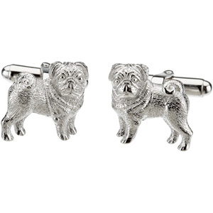Heart U Back Pug Cuff Links