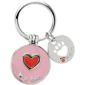 Heart U Back Companion Key Ring