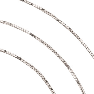.55 mm Solid, Box Chain (Sterling Silver, 14K Y & 14K W)