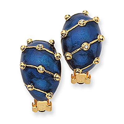 Enamel Earclip Earrings
