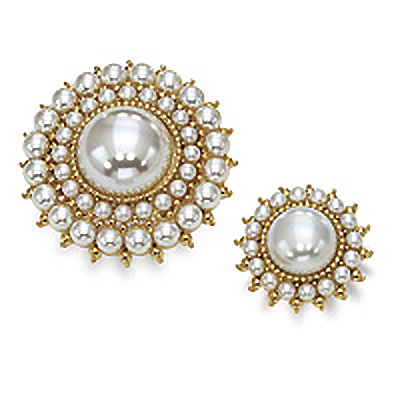 Dual Simulated Pearl Pin Set