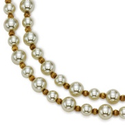 Alternating Double Strand Simulated Pearl 18in Necklace