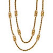 Dual Chain & Station 27in & 34in Necklace