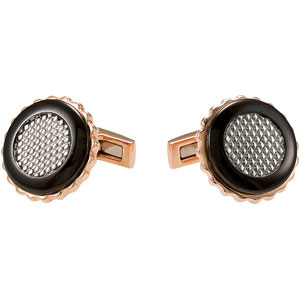 Stainless Steel Cuff Links Black and Rose