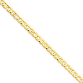 20 in 14 k 4.5 mm Open Concave Curb Chain